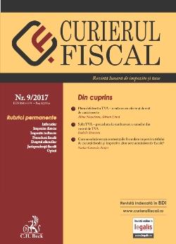 Revista Curierul fiscal nr. 9/2017