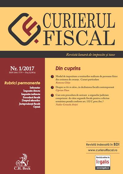 Revista Curierul fiscal - noul format legalis