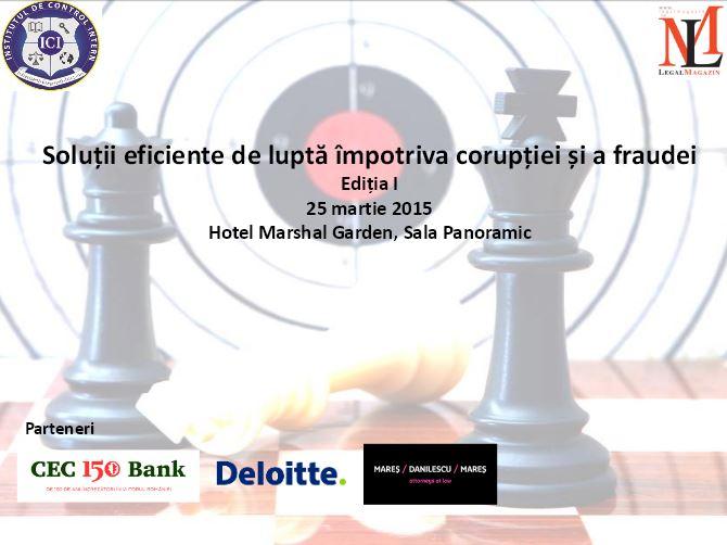 Conferinta Soluții eficiente de luptă împotriva corupției și a fraudei