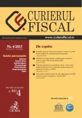 Revista Curierul fiscal nr. 4/2015