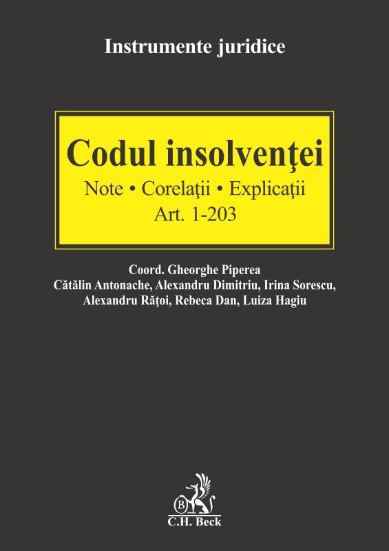 Codul insolvenţei. Note. Corelaţii. Explicaţii
